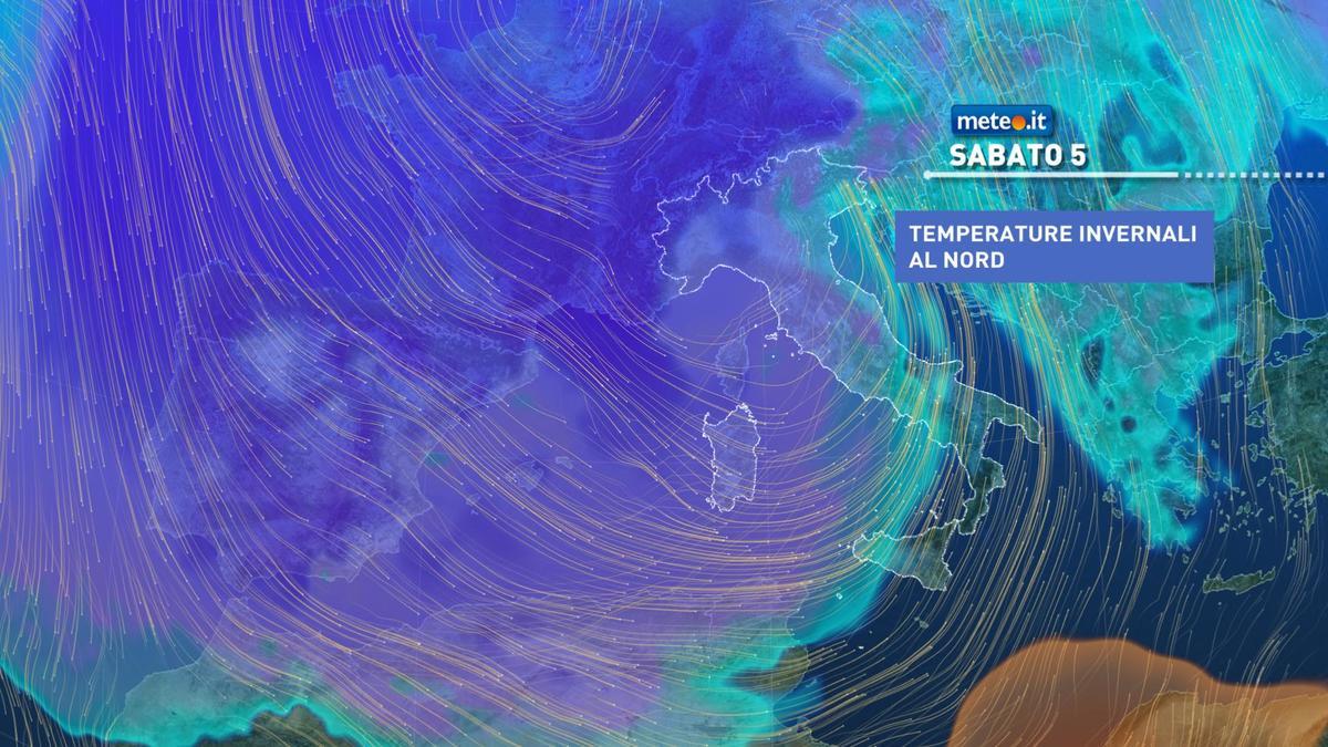 Meteo, maltempo invernale anche nel weekend del 5 e 6 dicembre