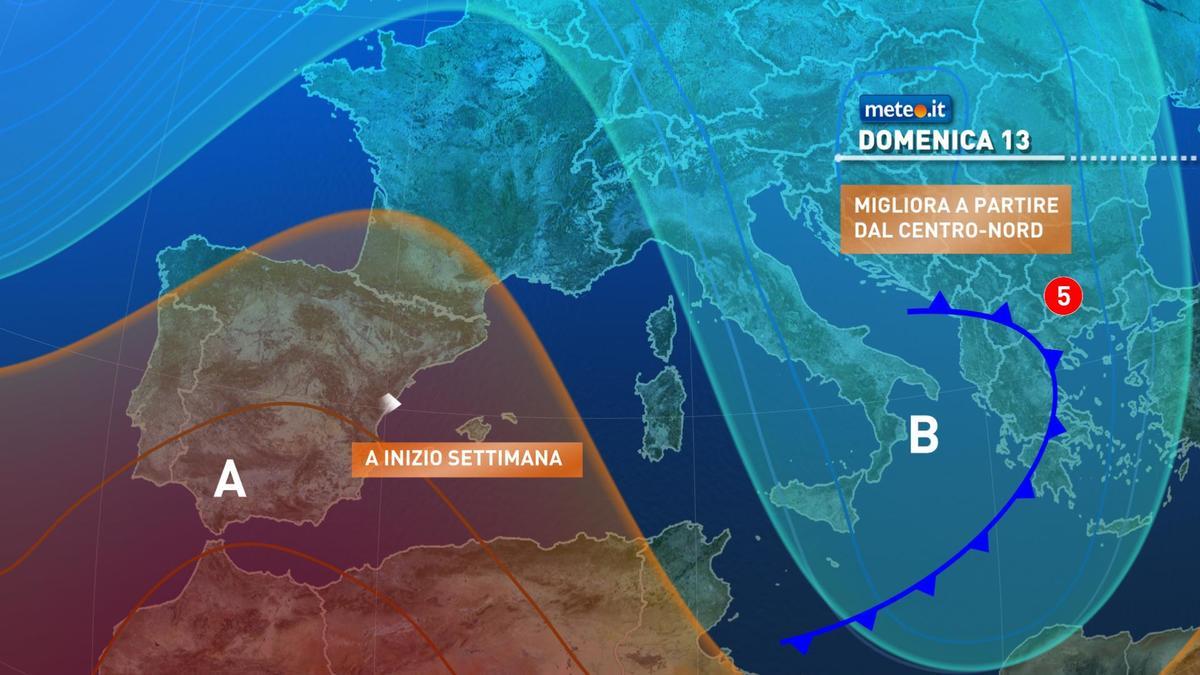 Meteo, tra il 13 e il 14 dicembre breve tregua dal maltempo