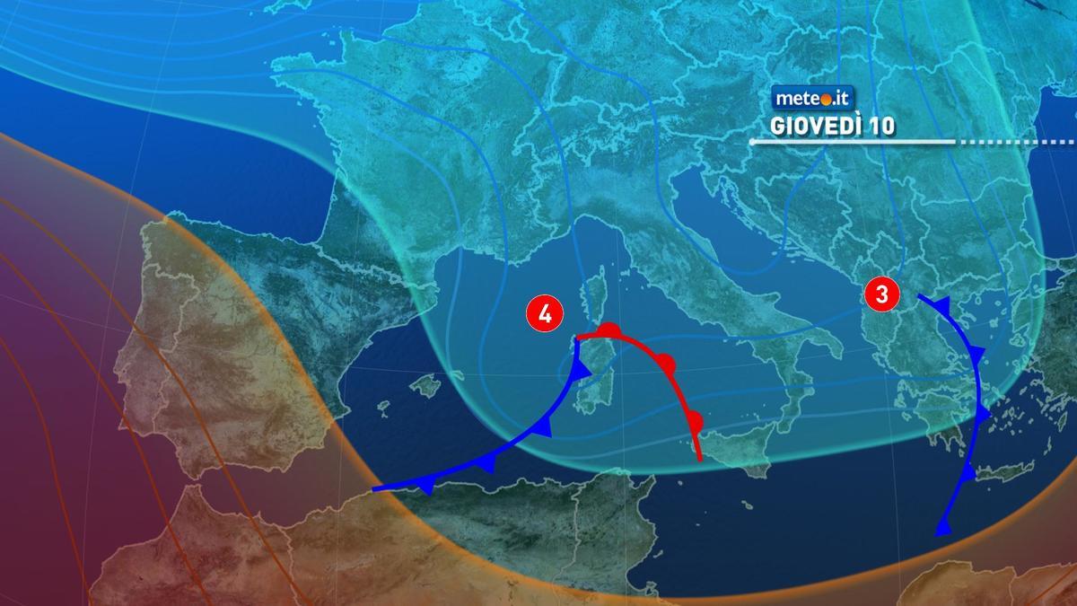 Meteo, 10 dicembre con poche piogge ma il maltempo proseguirà