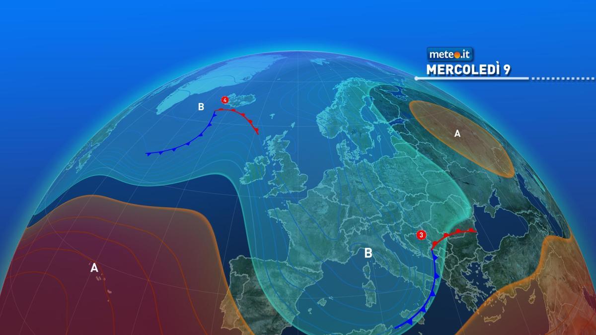 Meteo, mercoledì 9 dicembre ancora maltempo sull'Italia
