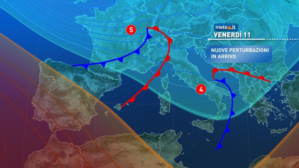 Meteo, dal 10 dicembre nuove piogge sull'Italia