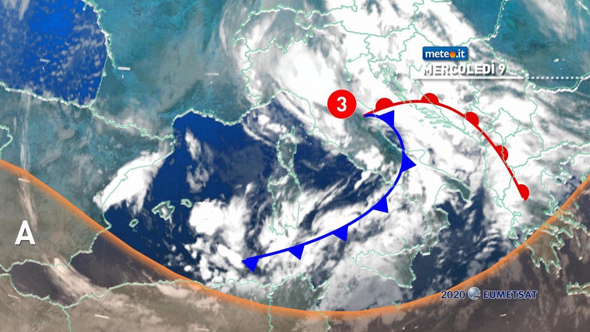 Meteo, mercoledì 9 dicembre ancora piogge e venti forti