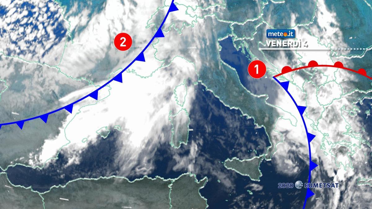 Meteo, venerdì 4 dicembre nuova ondata di maltempo invernale