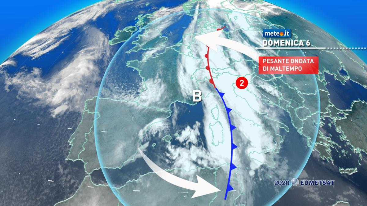 Meteo, domenica 6 dicembre fase critica di maltempo: piogge alluvionali