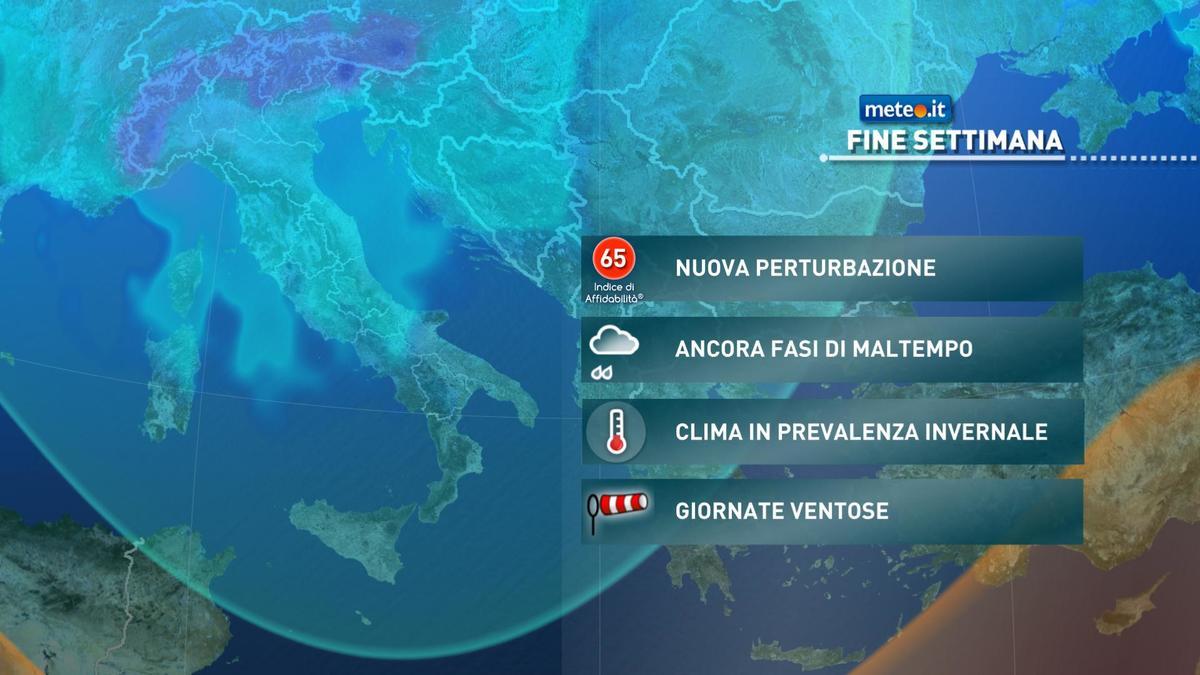 Meteo, ondata di maltempo di stampo invernale anche nel weekend del 5-6 dicembre