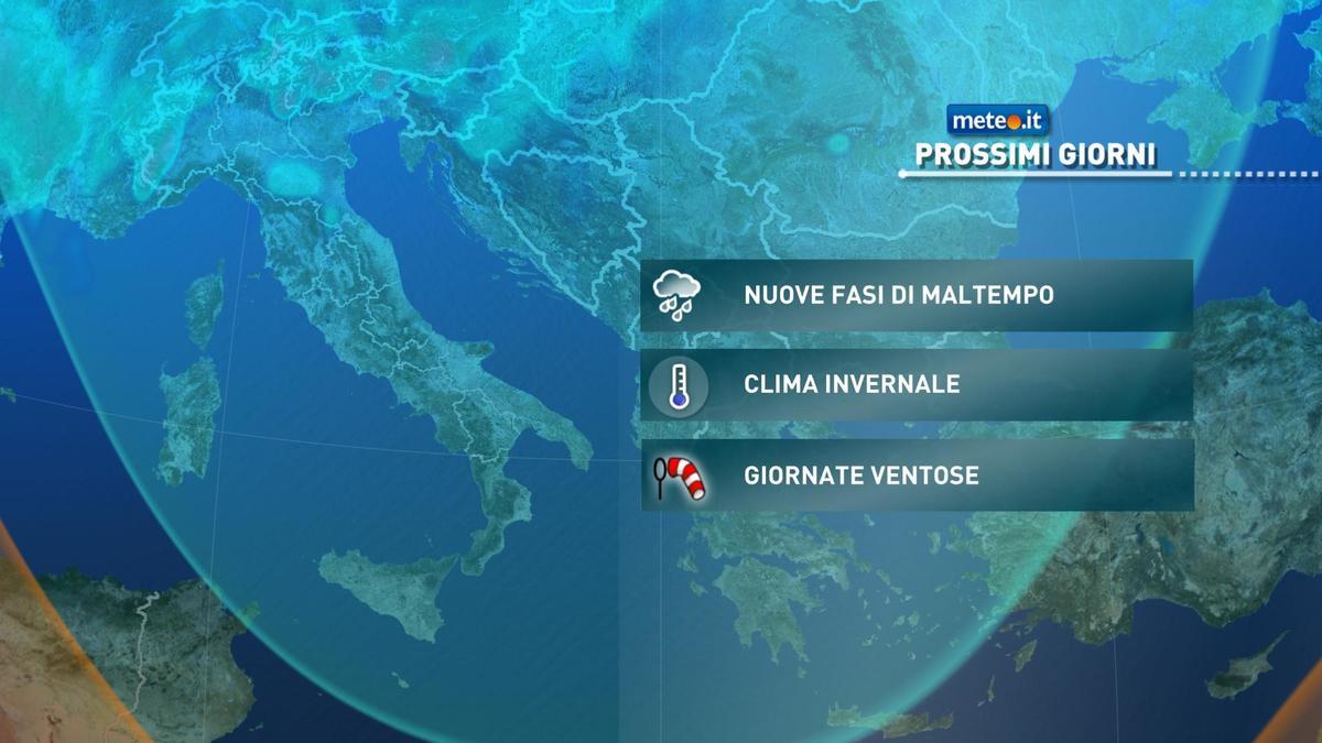 Meteo, sull'Italia un via vai di perturbazioni anche dopo l'Immacolata