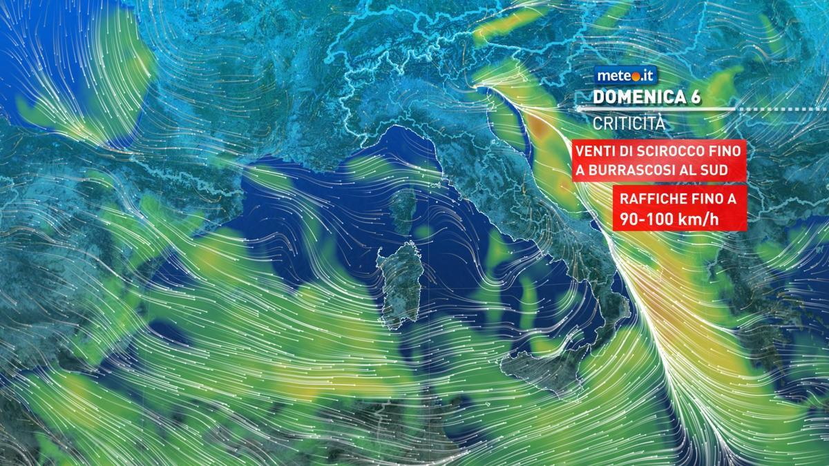 Meteo, domenica 6 dicembre forte maltempo e rischio nubifragi