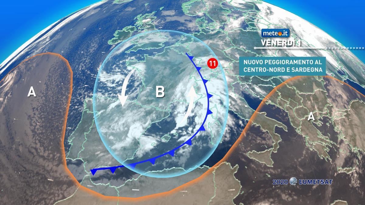Meteo, il 2021 al via con maltempo, venti forti e neve