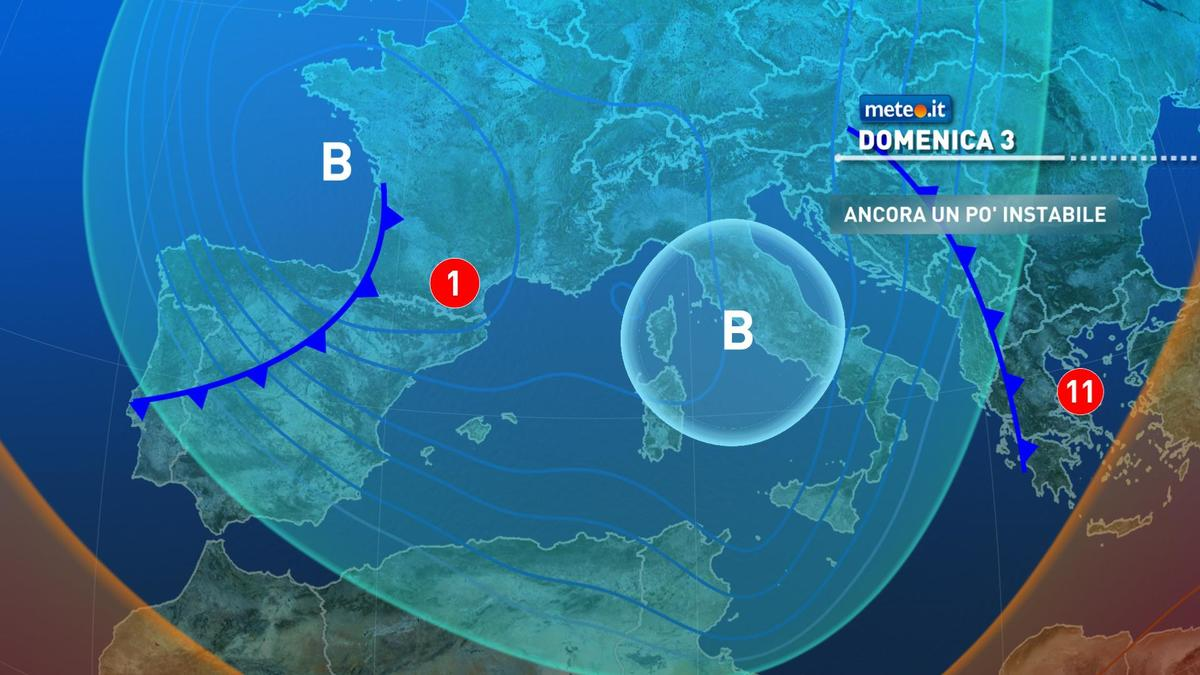Meteo, domenica 3 gennaio atmosfera ancora instabile sull'Italia
