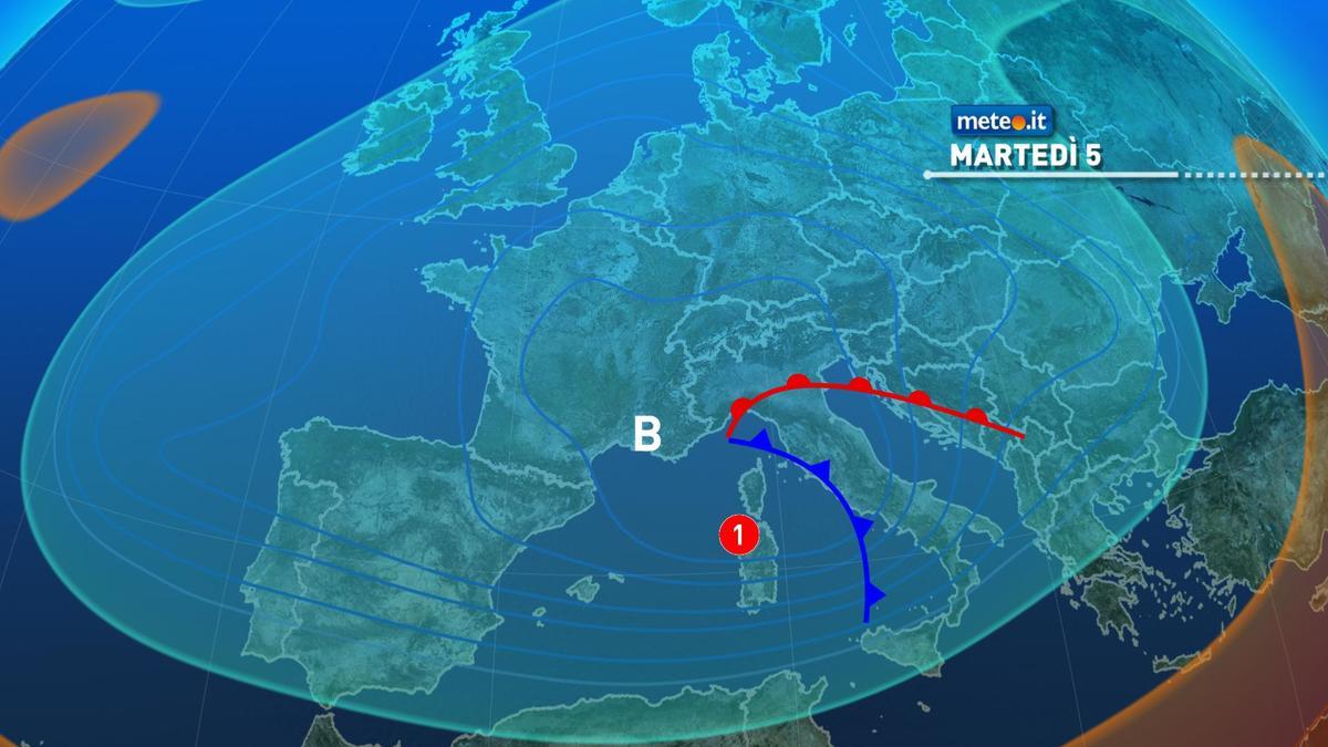 Meteo, nuove fasi di maltempo da martedì 5 gennaio