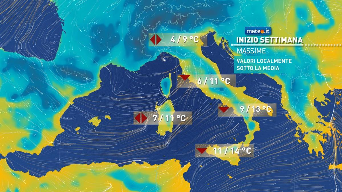 Meteo, oggi lunedì 4 gennaio, tempo ancora instabile e freddo