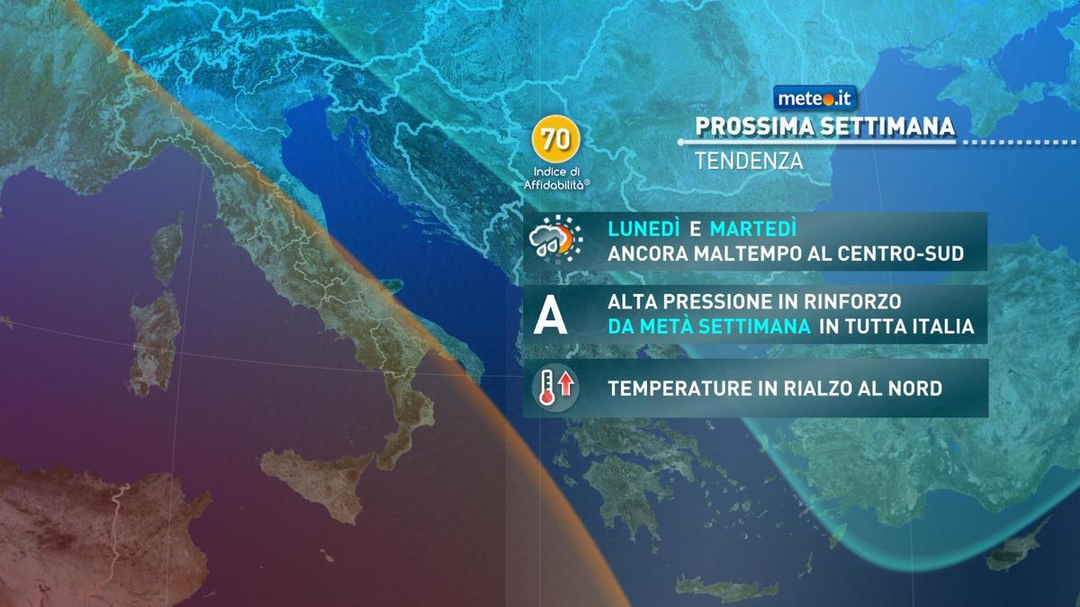 Meteo, fase più stabile: alta pressione in rinforzo tra il 13 e il 14 gennaio
