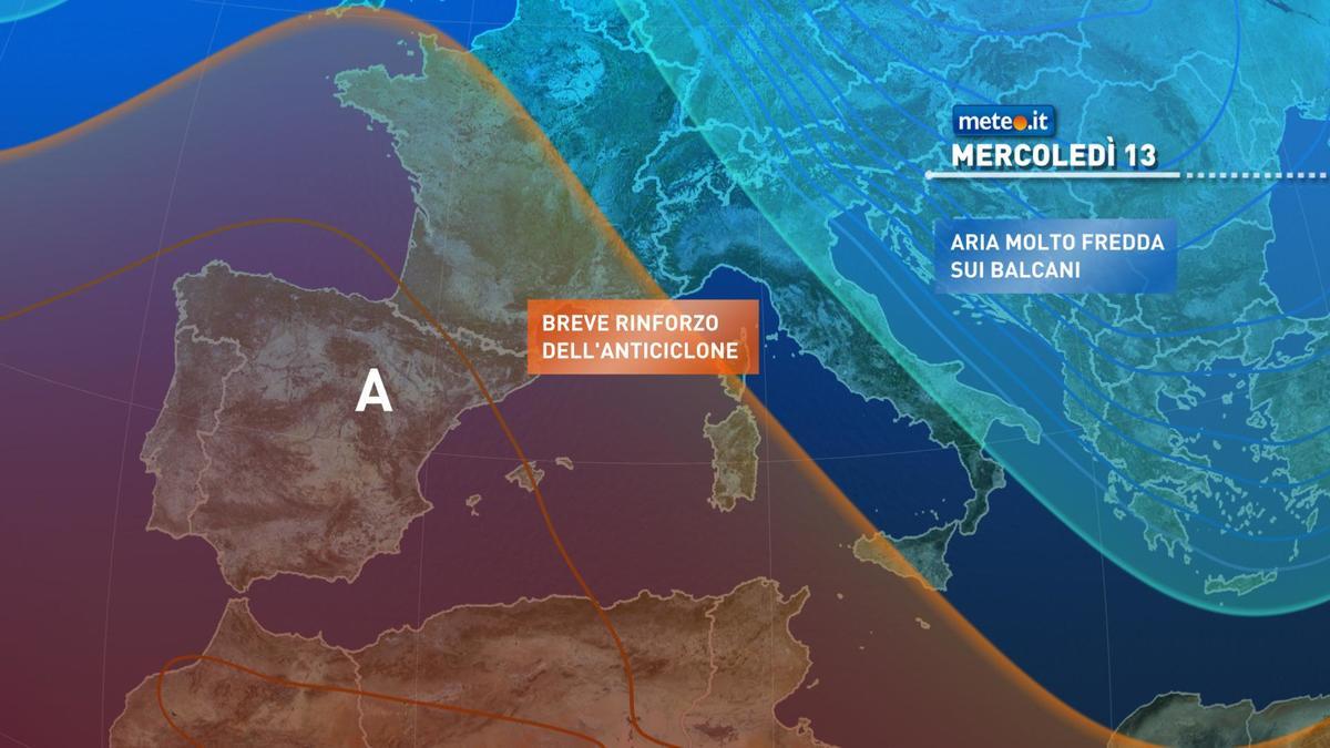 Meteo, da metà settimana nuovo afflusso di aria molto fredda sull'Italia