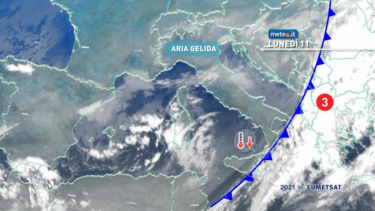 Meteo, 11 gennaio molto freddo sull'Italia: temperature in calo