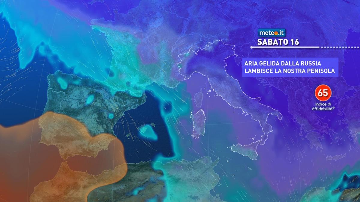 Meteo, a partire da venerdì 15 gennaio nuova massa di aria molto fredda