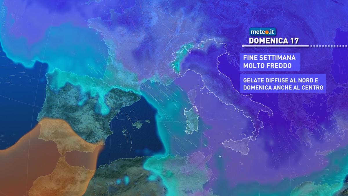 Meteo, weekend del 16-17 gennaio con clima gelido sull'Italia