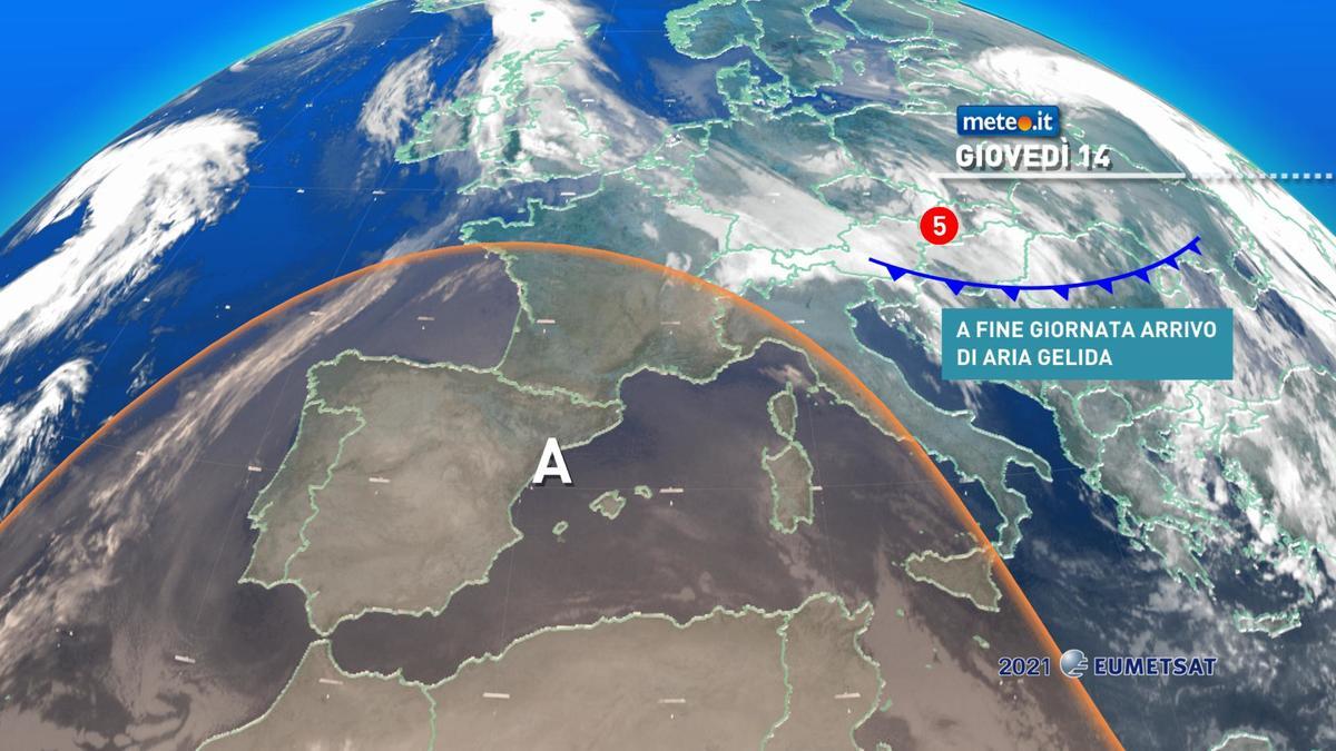 Meteo, irruzione di aria gelida dalla Russia dal 15 gennaio