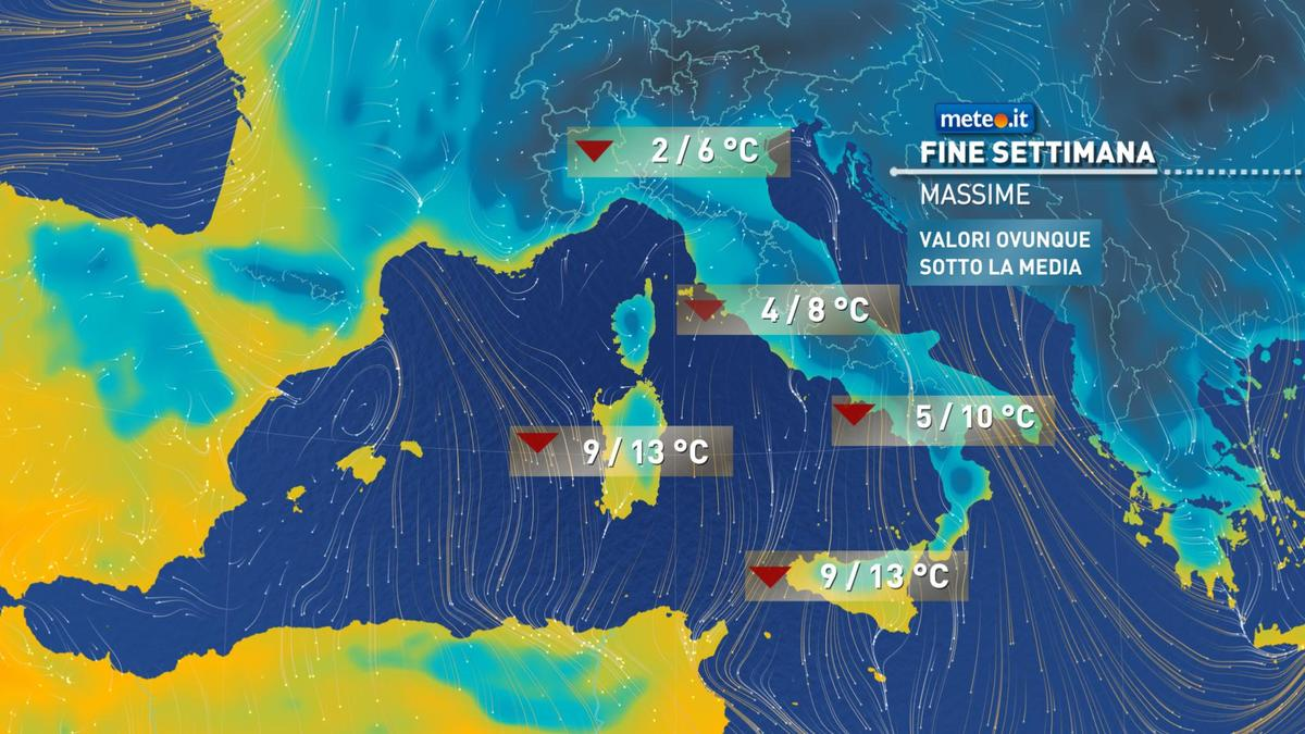 Meteo, oggi sabato 16 gennaio l'Italia sarà nella morsa del gelo