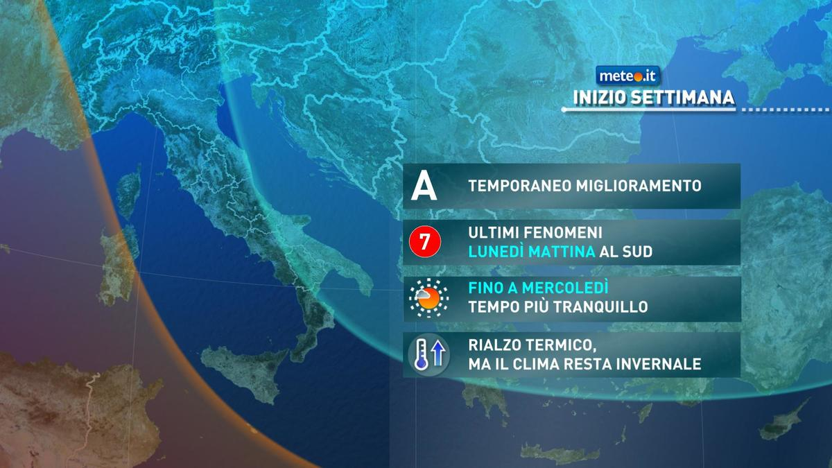 Meteo, da martedì 19 le correnti gelide saranno sostituite da aria più mite
