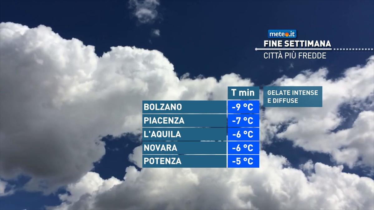 Meteo, nel weekend del 16-17 gennaio l'Italia dovrà fare i conti con il gelo e due perturbazioni