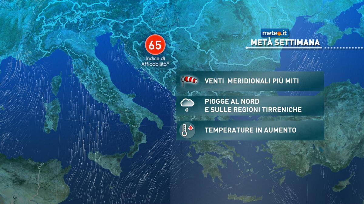 Meteo, da martedì 19 gennaio si cambia scenario: afflusso di aria più mite