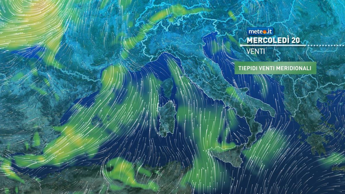 Meteo, dal 21 gennaio tornano piogge, neve e venti forti