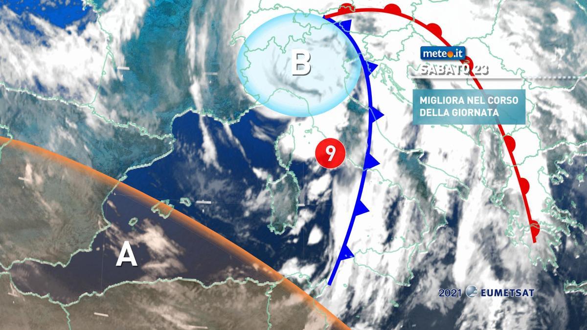 Meteo, weekend del 23-24 gennaio con maltempo e venti forti