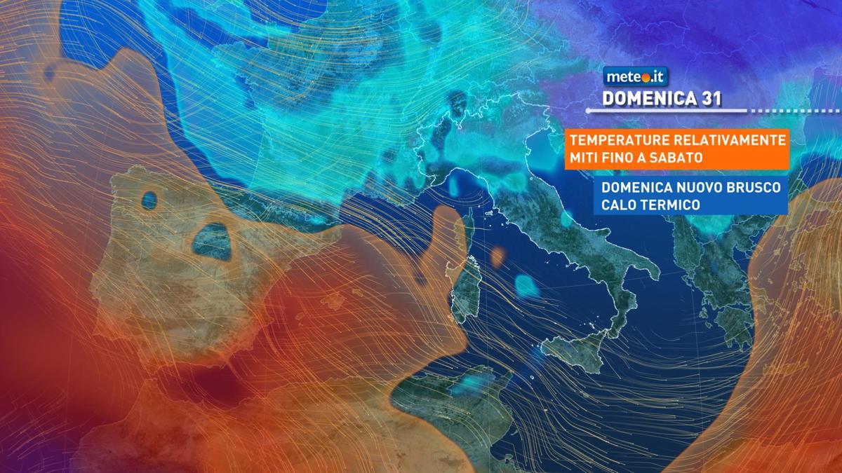 Meteo, da domenica 31 gennaio nuovo afflusso di aria fredda