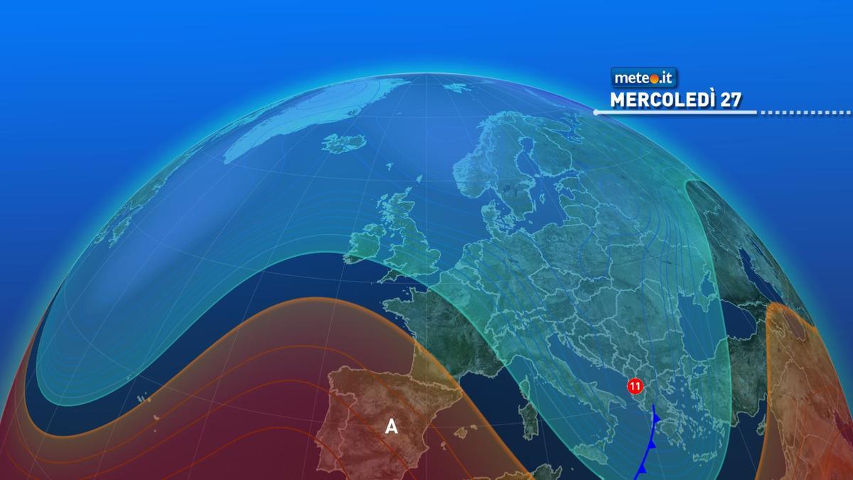 Meteo, 27 gennaio con temperature in calo
