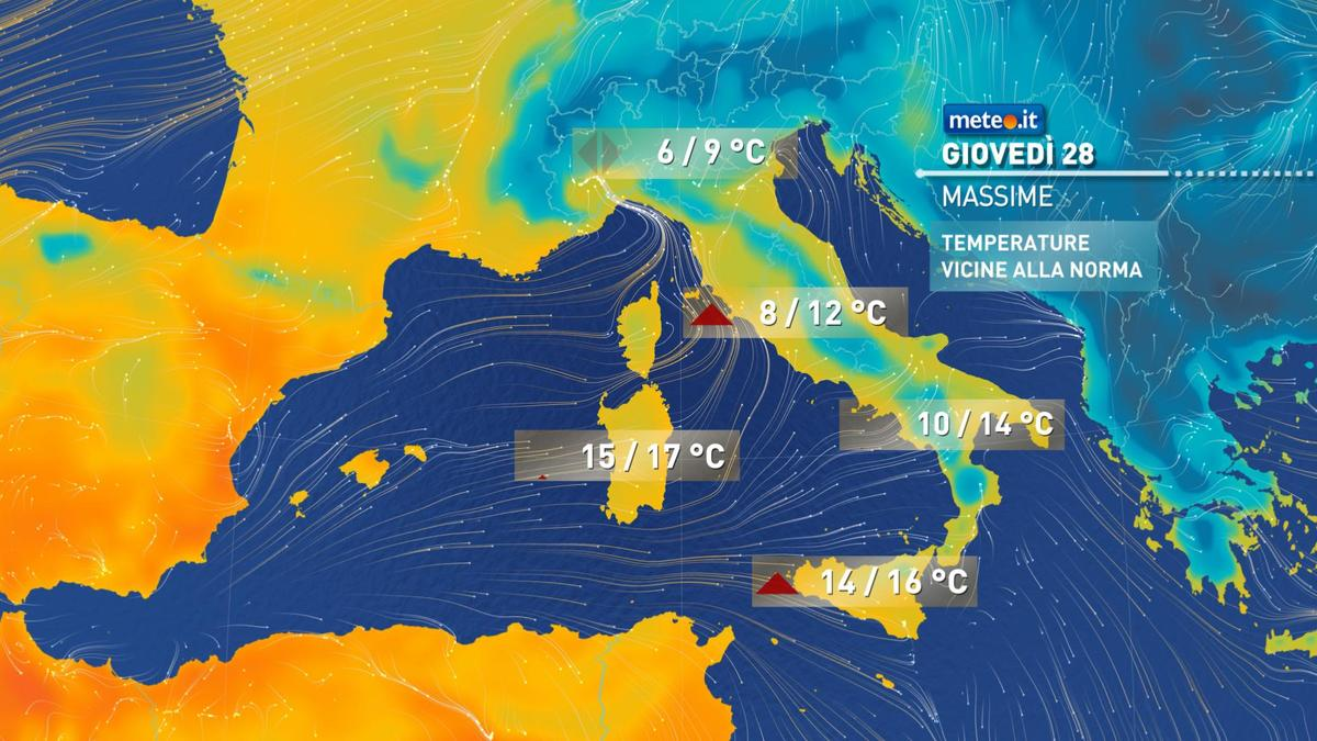 Meteo, 28 gennaio con temperature in aumento