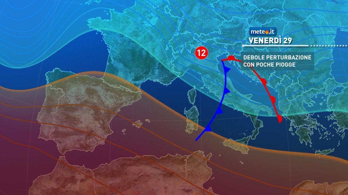 Meteo, da venerdì 29 gennaio tempo in graduale peggioramento