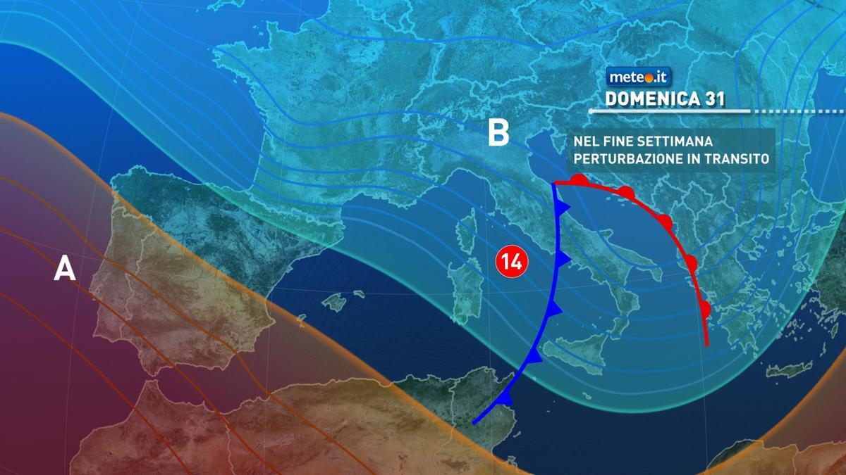 Meteo, 31 gennaio con pioggia in molte regioni