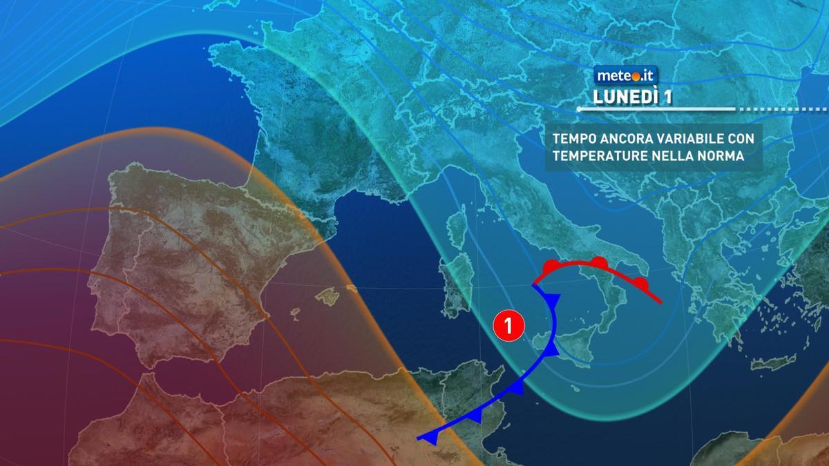 Meteo: settimana al via con nuove piogge, ma dal 2 febbraio si profilano cambiamenti importanti