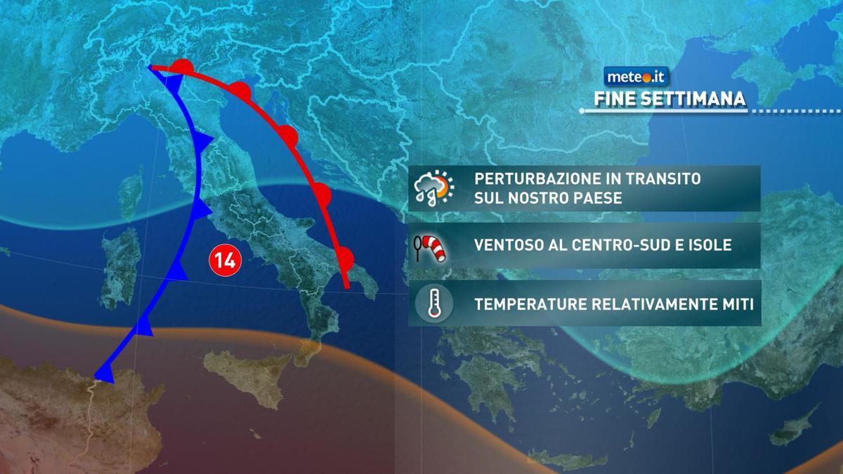 Meteo, maltempo e venti forti nel weekend del 30-31 gennaio