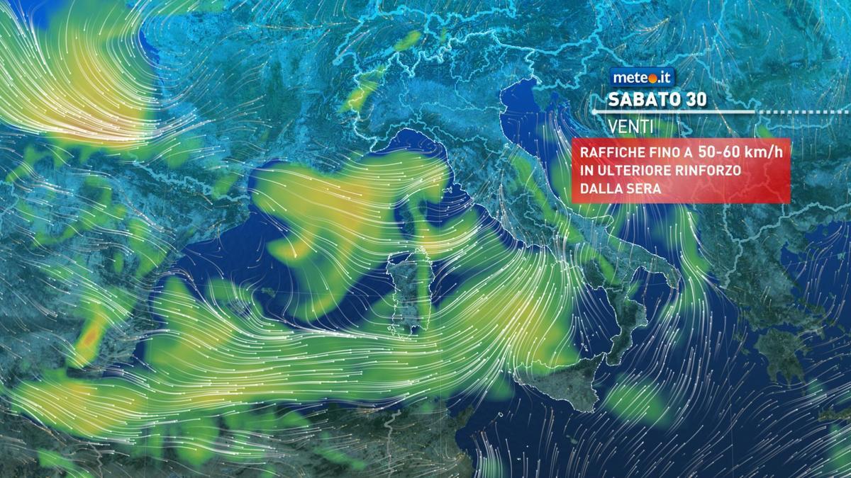Meteo, tra stasera e domenica 31 gennaio fase di forte maltempo