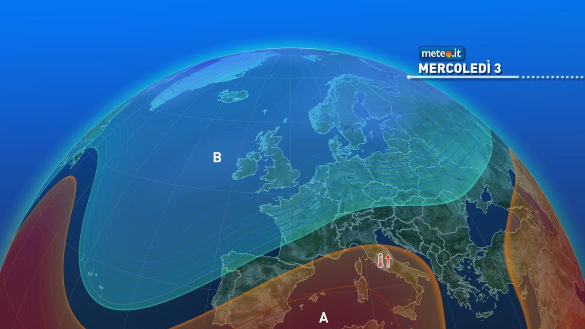 Meteo, dal 3 febbraio alta pressione nord-africana