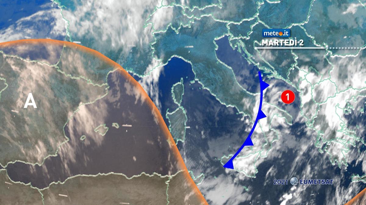 Meteo, 2 febbraio con poche piogge al Sud poi alta pressione