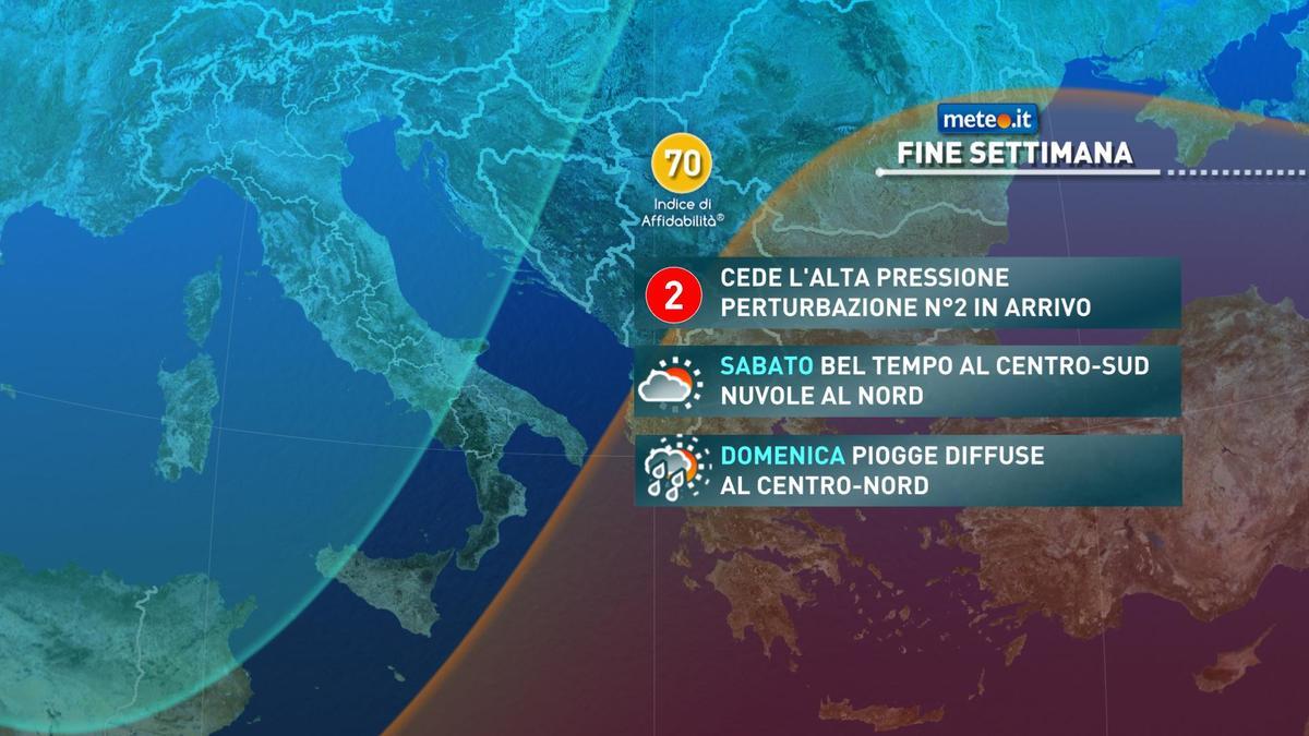 Meteo, alta pressione e clima mite fino a sabato 6 febbraio