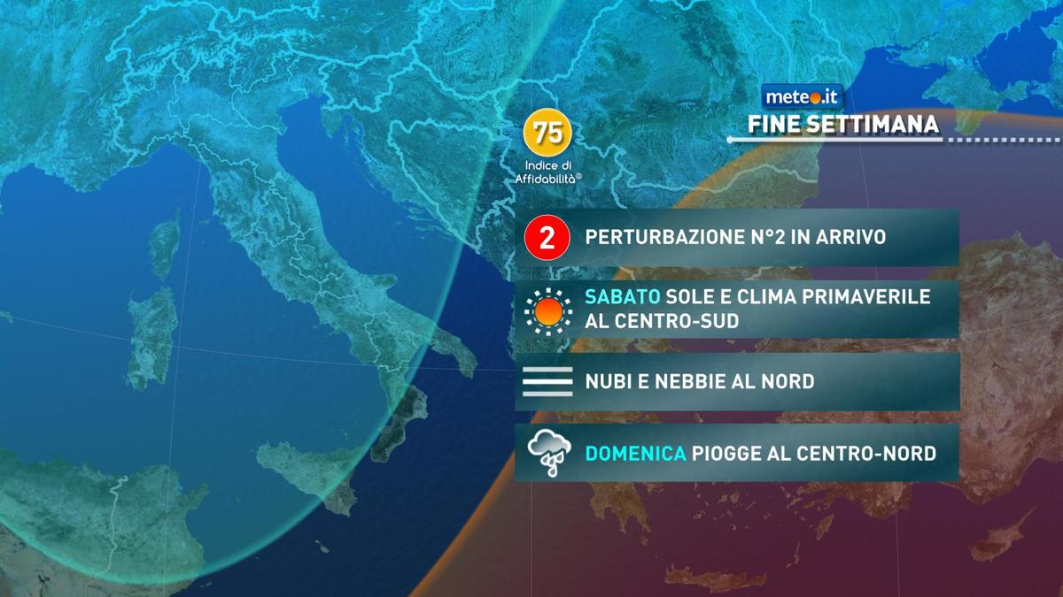 Meteo, nel weekend del 6-7 febbraio, l'alta pressione tenderà a ritirarsi