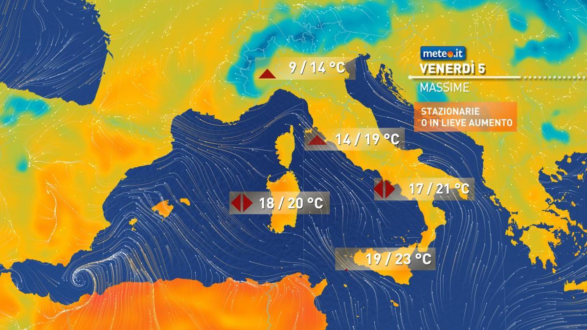 Meteo, venerdì 5 febbraio primaverile al Sud: punte oltre i 20°C