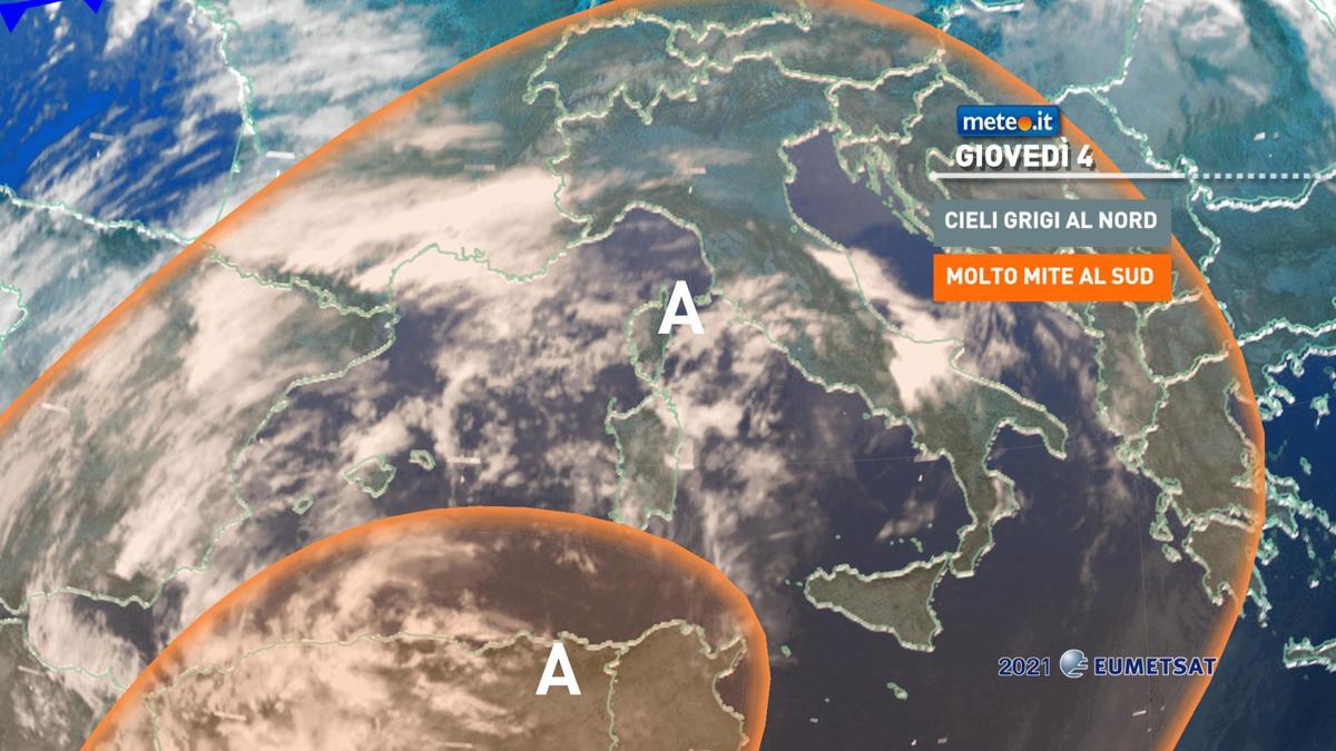 Meteo, 4 febbraio stabile e molto mite: punte oltre i 20°C