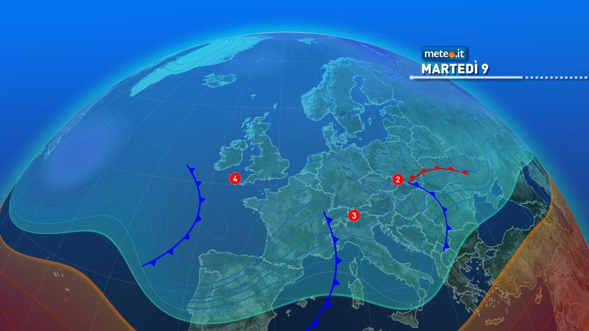 Meteo, tra l'8 e il 10 febbraio arriveranno altre perturbazioni