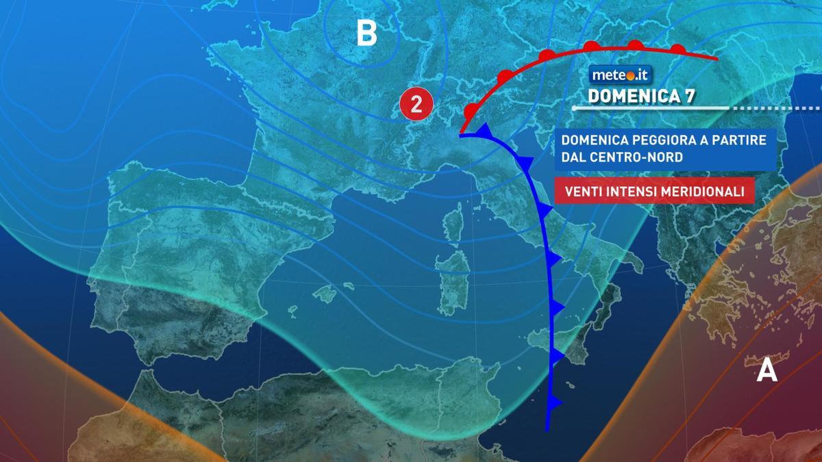 Meteo, 7 febbraio con forte maltempo: le zone a rischio