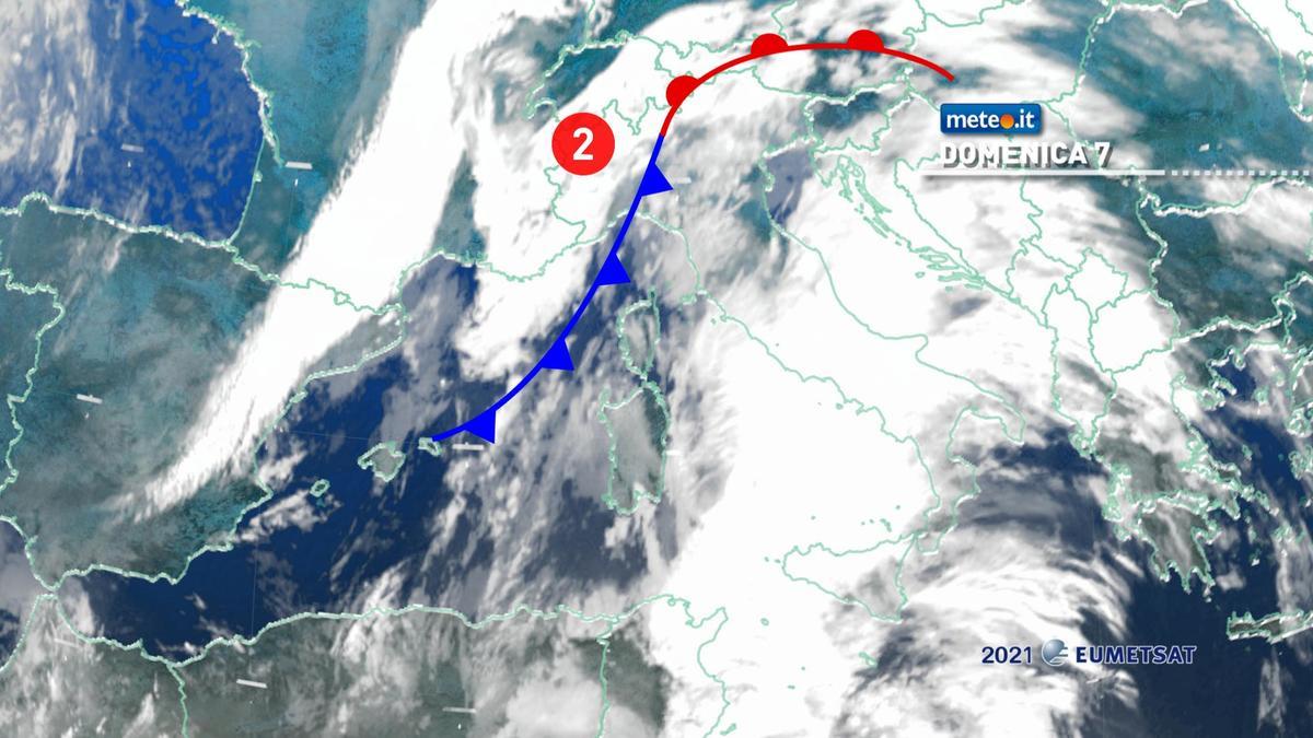Meteo 7 febbraio: forte maltempo e temperature in calo