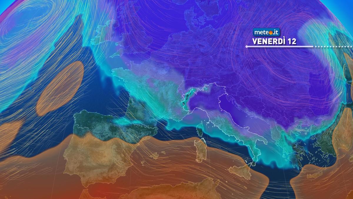 Meteo, da venerdì 12 febbraio irruzione di aria gelida sull'Italia