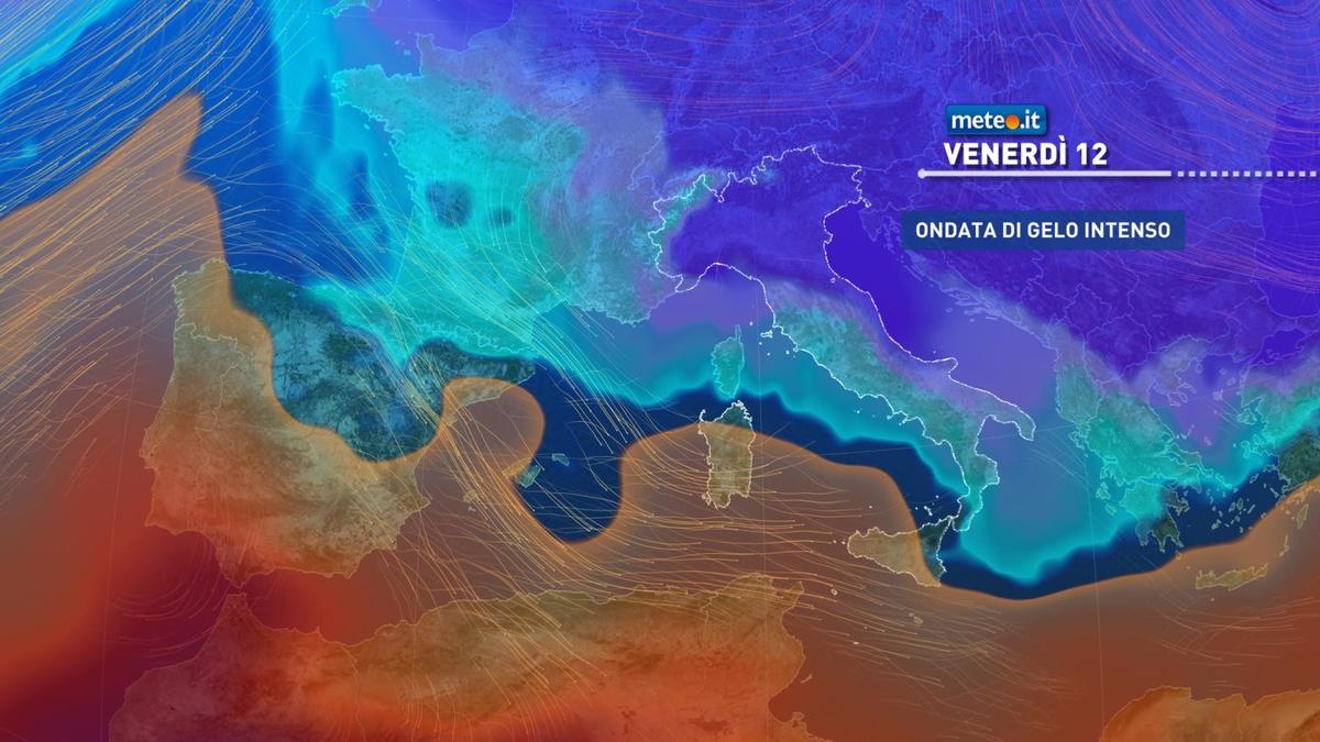 Meteo, giovedì 11 febbraio breve tregua poi arriva il gelo artico