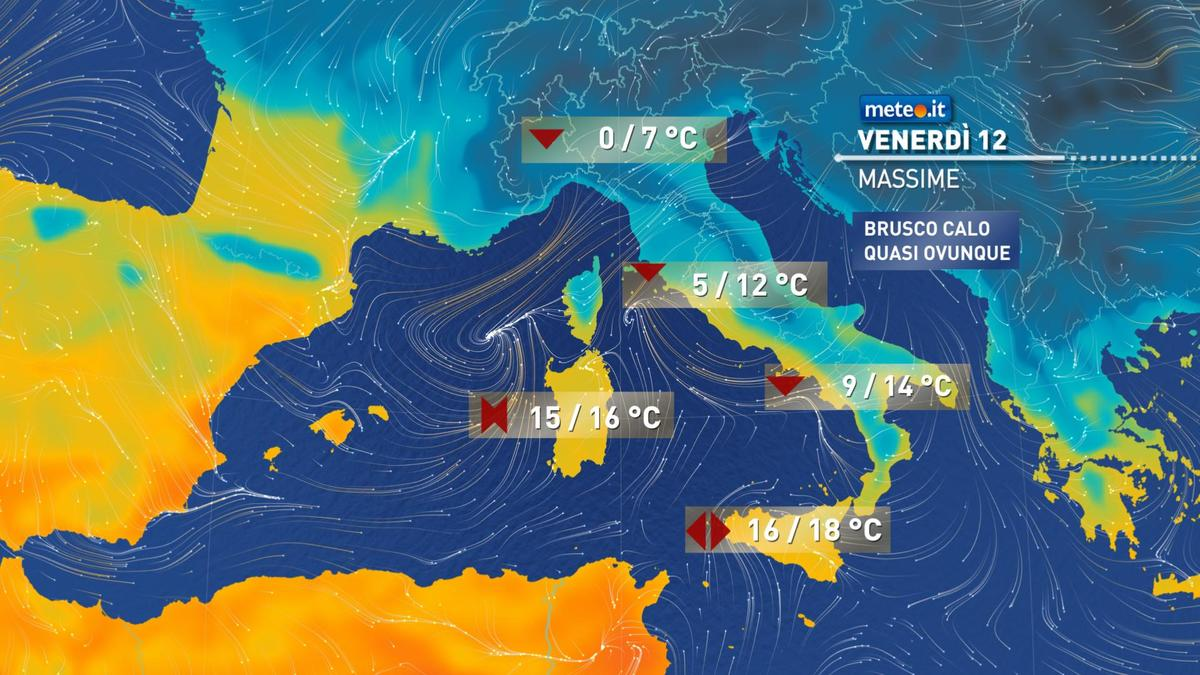 Meteo, da venerdì 12 febbraio l'Italia sarà sferzata da correnti gelide