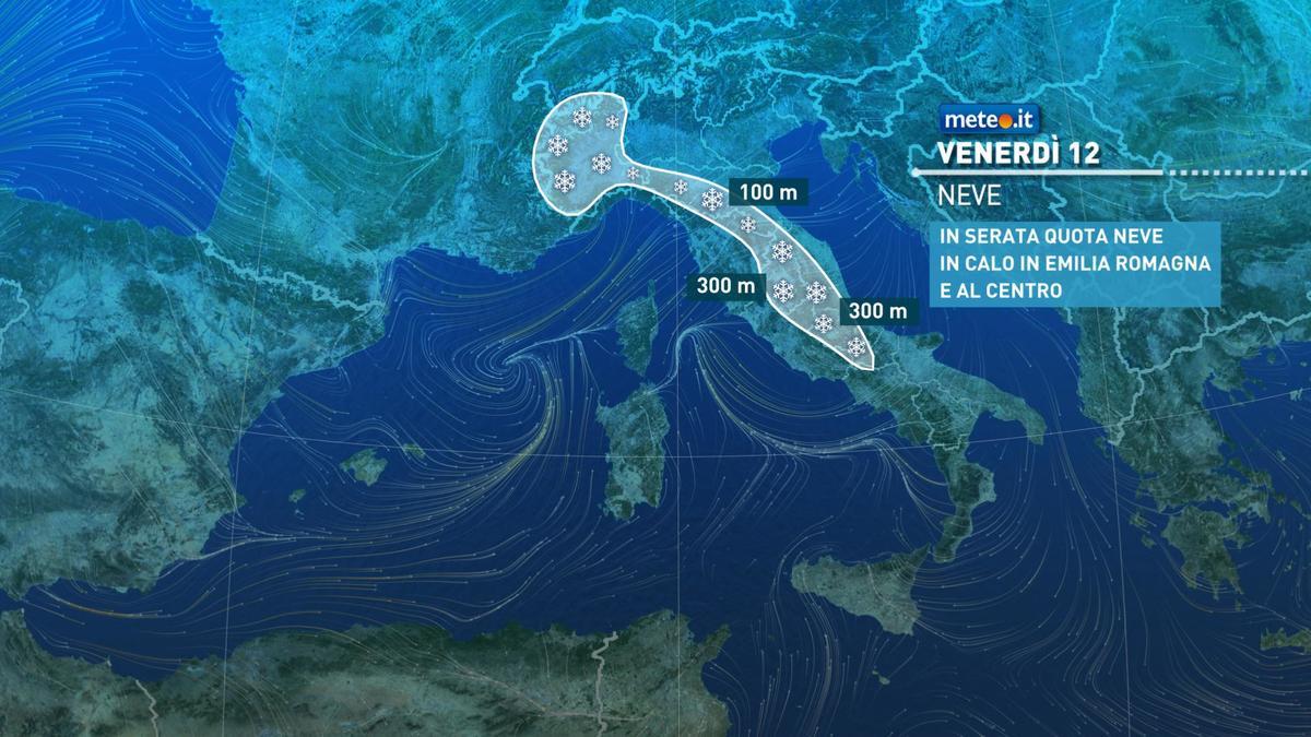 Meteo, da oggi venerdì 12 febbraio, clima molto freddo e ventoso