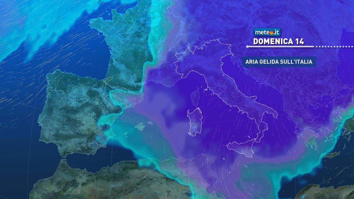 Meteo, sabato 13 e domenica 14 febbraio clima gelido sull'Italia