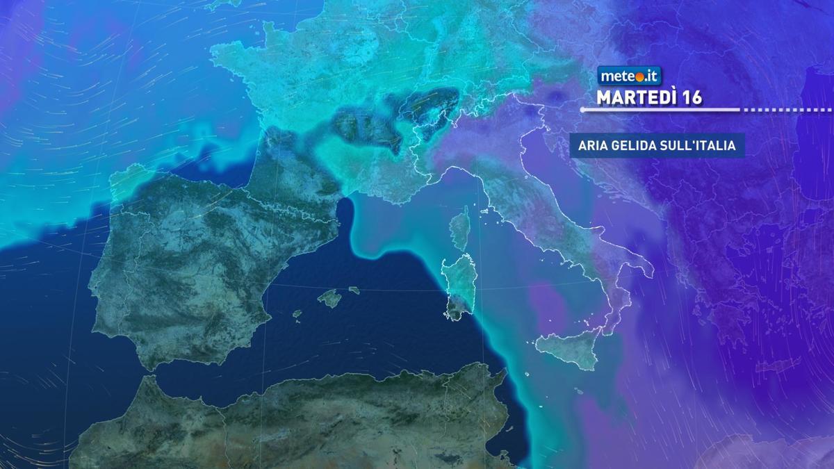Meteo, clima molto freddo anche tra lunedì 15 e mercoledì 17 febbraio
